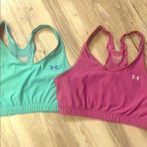 2 Under Armour sports bras